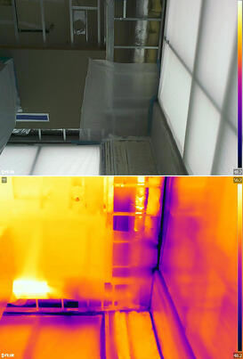 thermal imaging side by side
