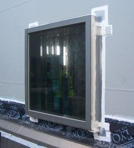 extruded silicone around window condition