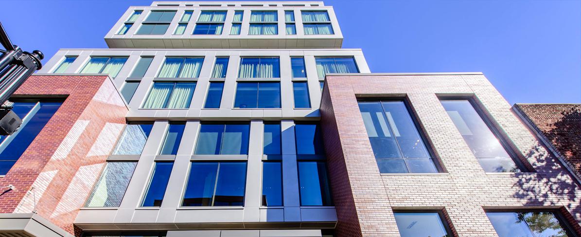 EIFS facade on building