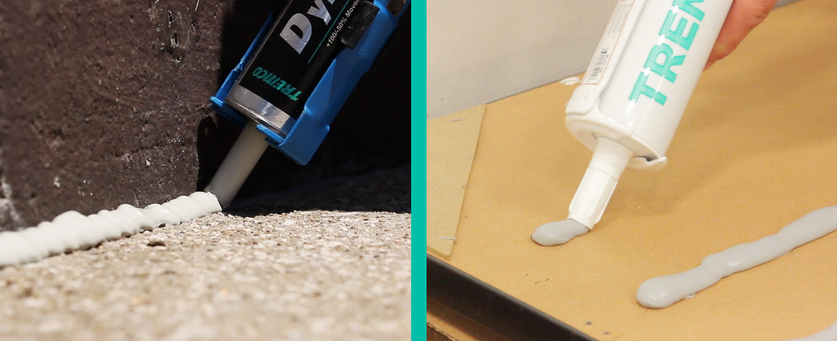tube of sealant and adhesive side by side